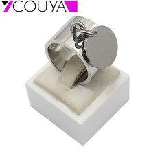 Fashion Silver Rings anillos Stainless Steel Big Party Charm Rings for Women FeMale boy High Quality