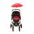 Cochecito de bebé cochecito cochecito paraguas Anti UV sombrilla Parasol bicicleta bicicleta de paseo silla ajustable para el bebé cochecito