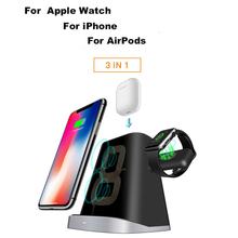 3 IN 1 QI Fast Charging Qi Wireless Charger For iPhone Samung Wireless Charging Mount Dock Stand Holder For Apple Watch Airpod