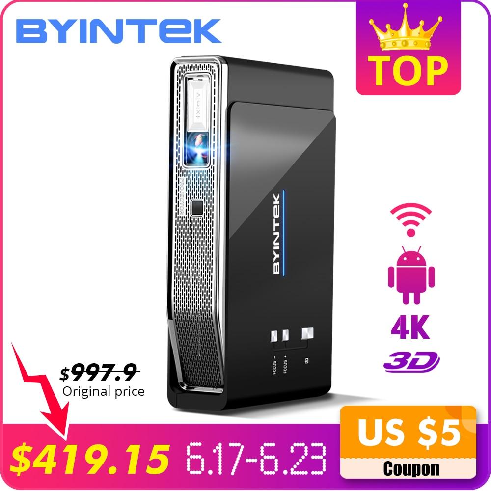 BYINTEK UFO R15 Smart Android WIFI vidéo Home cinéma LED Portable lAsEr USB Mini HD DLP 3D projecteur pour Full HD 1080 P HDMI 4 K