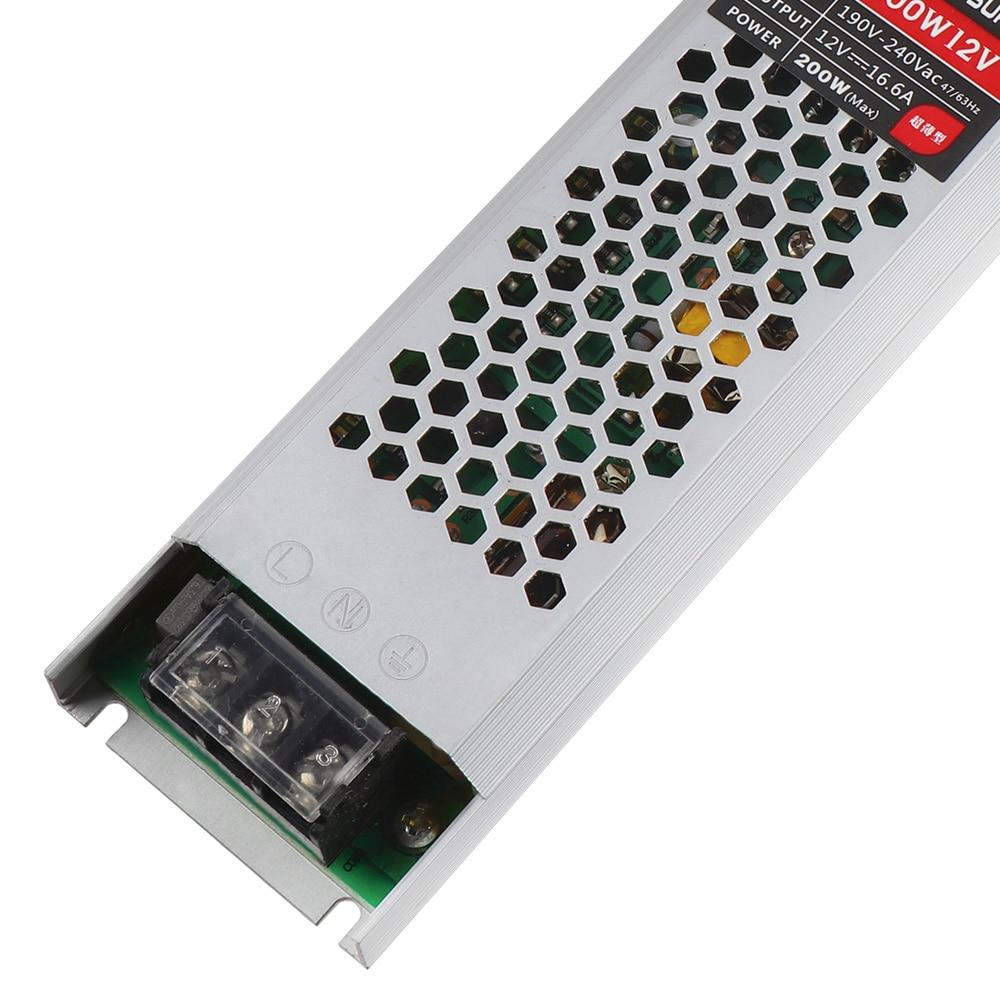Skup Ultra Thin 12 V Zasilacz 200 W 300 Oświetlenie Led