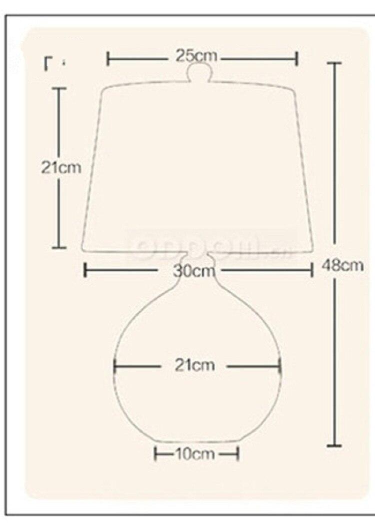 Nórdico moderno candeeiro de mesa de vidro