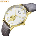 EYKI Gold Fashion Watches Men Luxury Brand Men's Quartz Hour Clock Sports Watch Man Army Military Wrist Watch