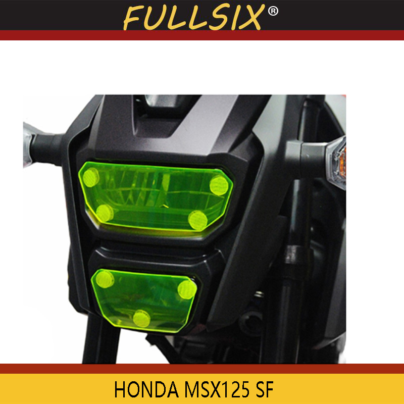 MSX 125 SF Motorcycle Acrylic Headlight protection sheet Screen Cover For HONDA MSX125 SF 2016-2018