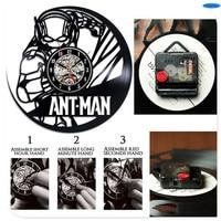 창조적 인 시계 CD 비닐 레코드 벽 시계 필름 개미 남자 테마 홈 장식 3D 매달려 시계 홈 장식