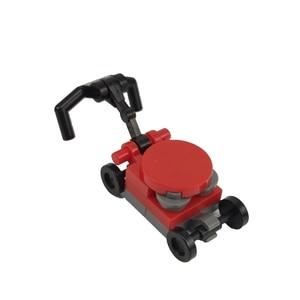 Image 1 - Kilitleme blokları MOC yaratıcı tuğla çim biçme makinesi seti satış oyuncak inşaat blokları çocuklar için yaratıcı blok DIY parçaları