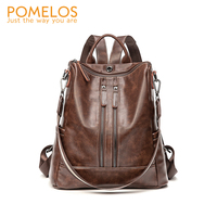 POMELOS Women Backpack New Arrival High Quality PU Leather Antitheft Backpack Fashion Urban Woman Backpack Back Bag For Girls