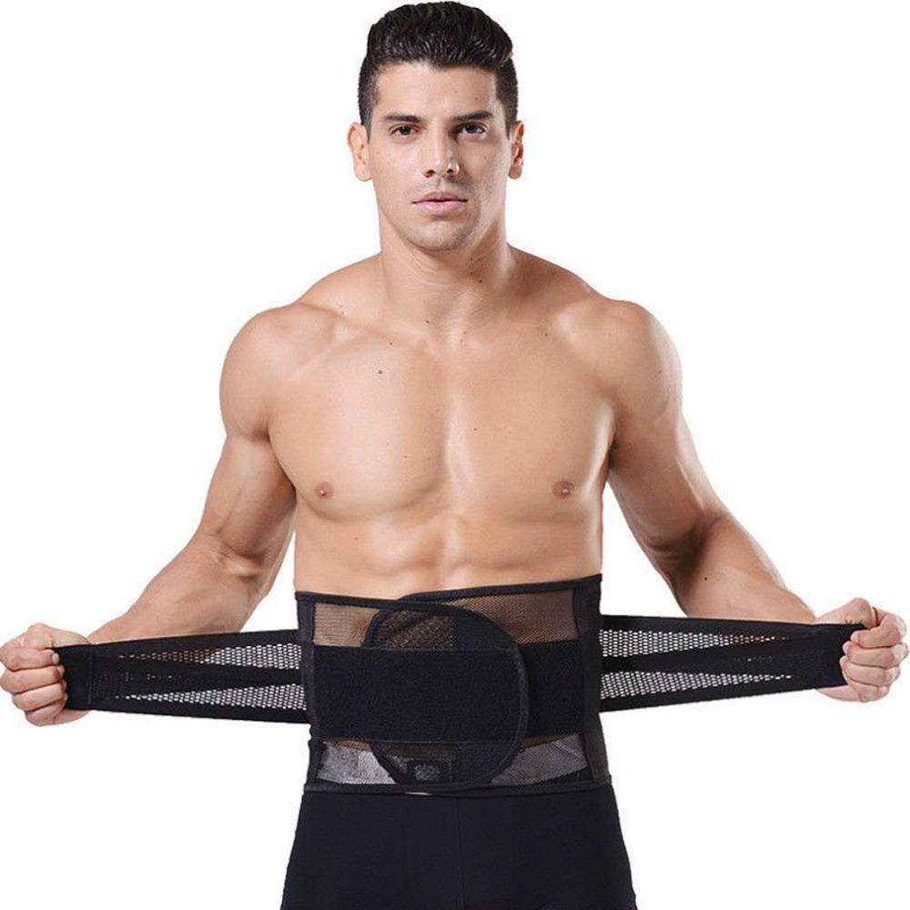New Adjustable Men Waistband Belly Waist Shaper Belt Abdomen Tummy Trimmer Cincher Girdle Burn Fat Body Shaping Supports Braces