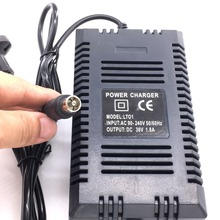 hot deal buy new 36v scooter charger smart electric scooter charger plug lead acid battery charger 1.8a 36v rca output ac 90-240v