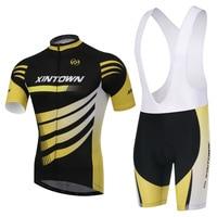 XINTOWN Cycling Jersey Sky Long Sleeve Pro Bike Bib Pants Set Ropa Ciclismo Men Cycle Wear Bicycle Uniformes Maillot Sports Wear