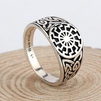 Sterling Silver Jewelry 925 Punk Style Thai Silver Ring Men Engrave Name Logo LG 065