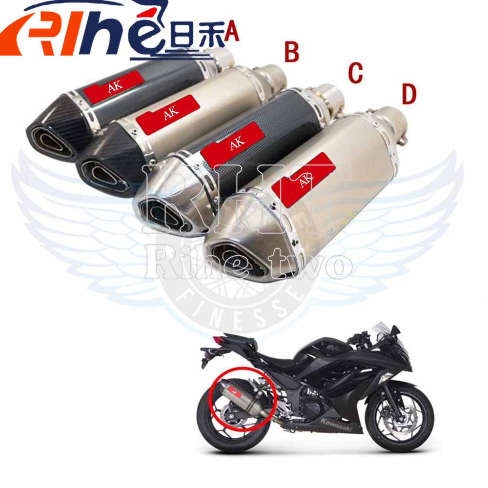 New Type Modified Motorcycle Exhaust Pipe Carbon Fiber Head Muffler 51mm For CBR1000 yamaha fz6 tmax 530 tmax 500 kawasaki - 6 r free shipping new style motorcyle accessories carbon fiber motorcycle exhaust pipe muffler for kawasak zx 6r zx 9r zx 10r