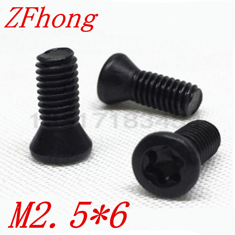 100pcs M2.5*6mm Insert Torx Screw for Replaces Carbide Inserts CNC Lathe Tool lathe accessorie hot selling internal grooving inserts cutter tool holder dgtr2020 3t20 for iscar carbide insert dgn3003 j ic907