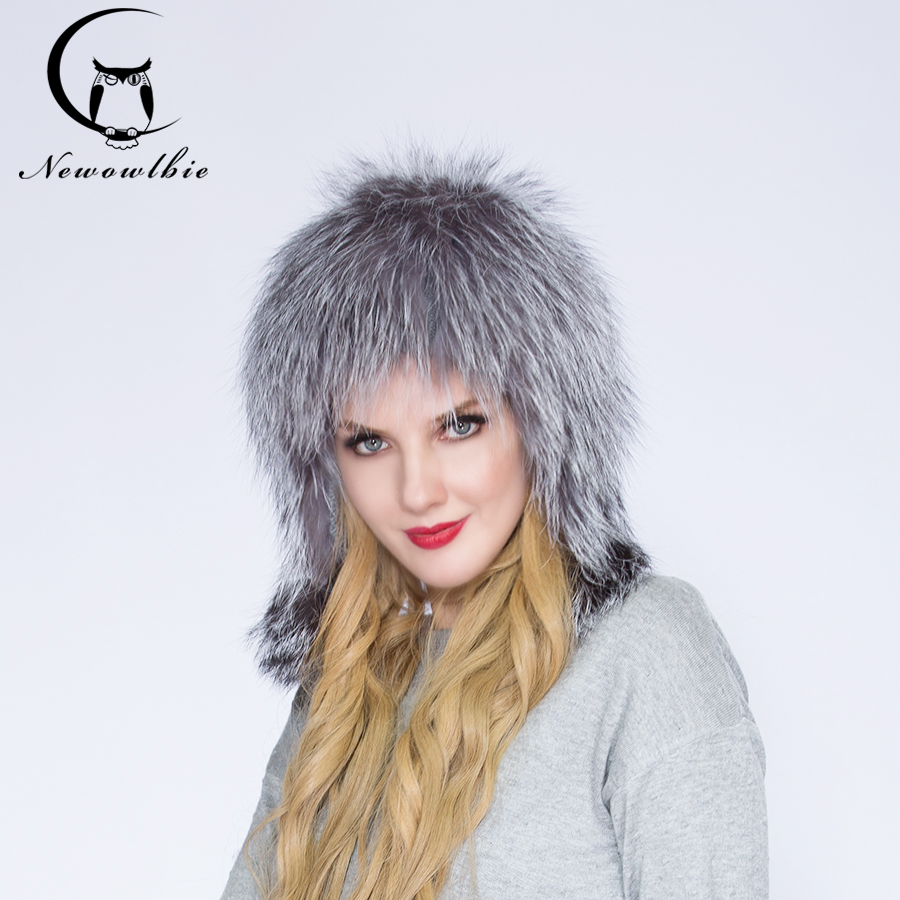 WNAORBM Fox Natural Fur Protect Ears Fashion Women Hats Hot Selling High Quality Keep Warm Latest Winter Nature Fur Hats