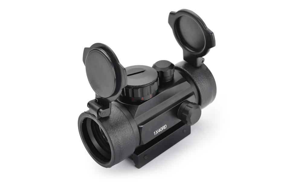 US $15 34 29% OFF|Hunting Holographic 1x40 Red Green Dot Sight Airsoft Dot  Sight Scope 11mm 20mm Rail Mount Collimator Sight With Projectile Cover-in