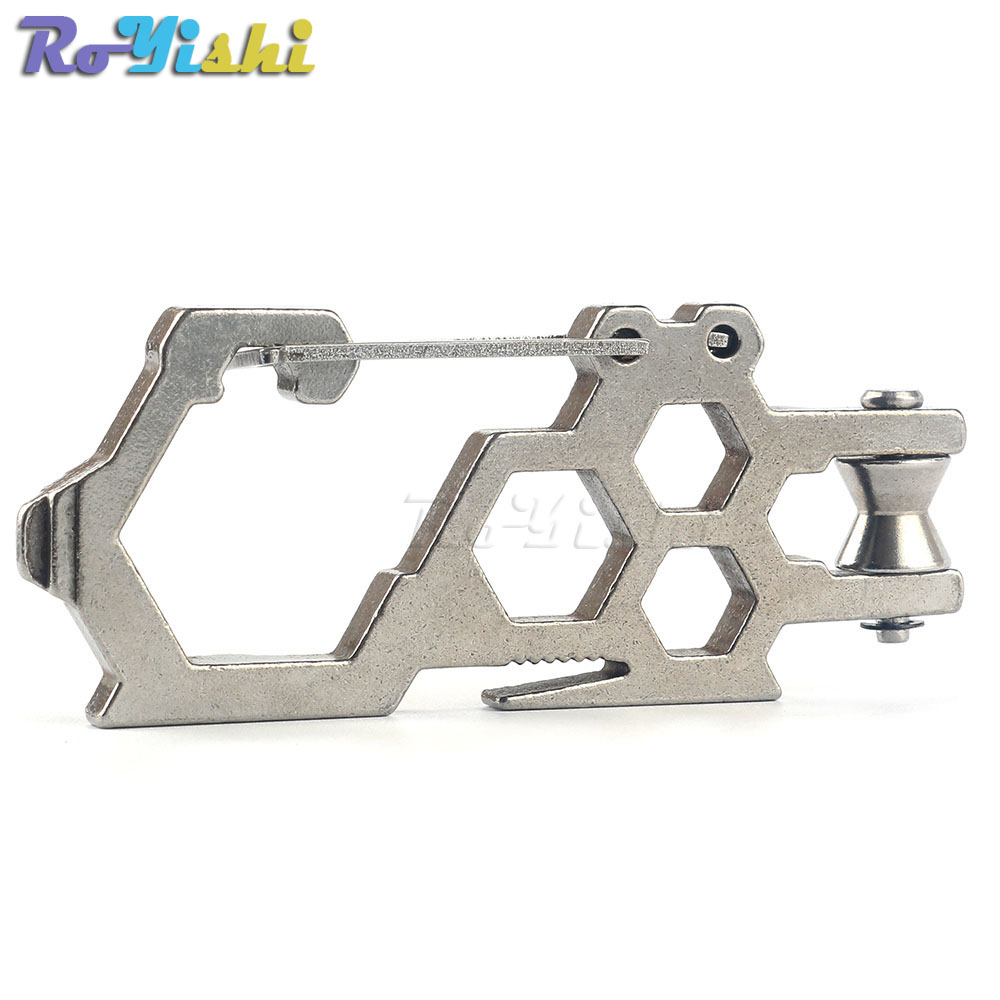 1pcs Paratrooper Series EDC Pulley Carabiner Wrench Hang Buckle for Camping Equipment Hiking Gear Survival Hand Tools