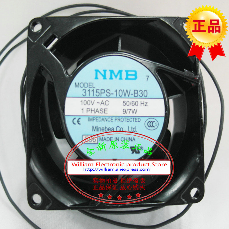 все цены на  New original NMB 3115PS-10W-B30 AC100V 9/7W 80*80*38MM 8cm axial flow cooling fan  онлайн