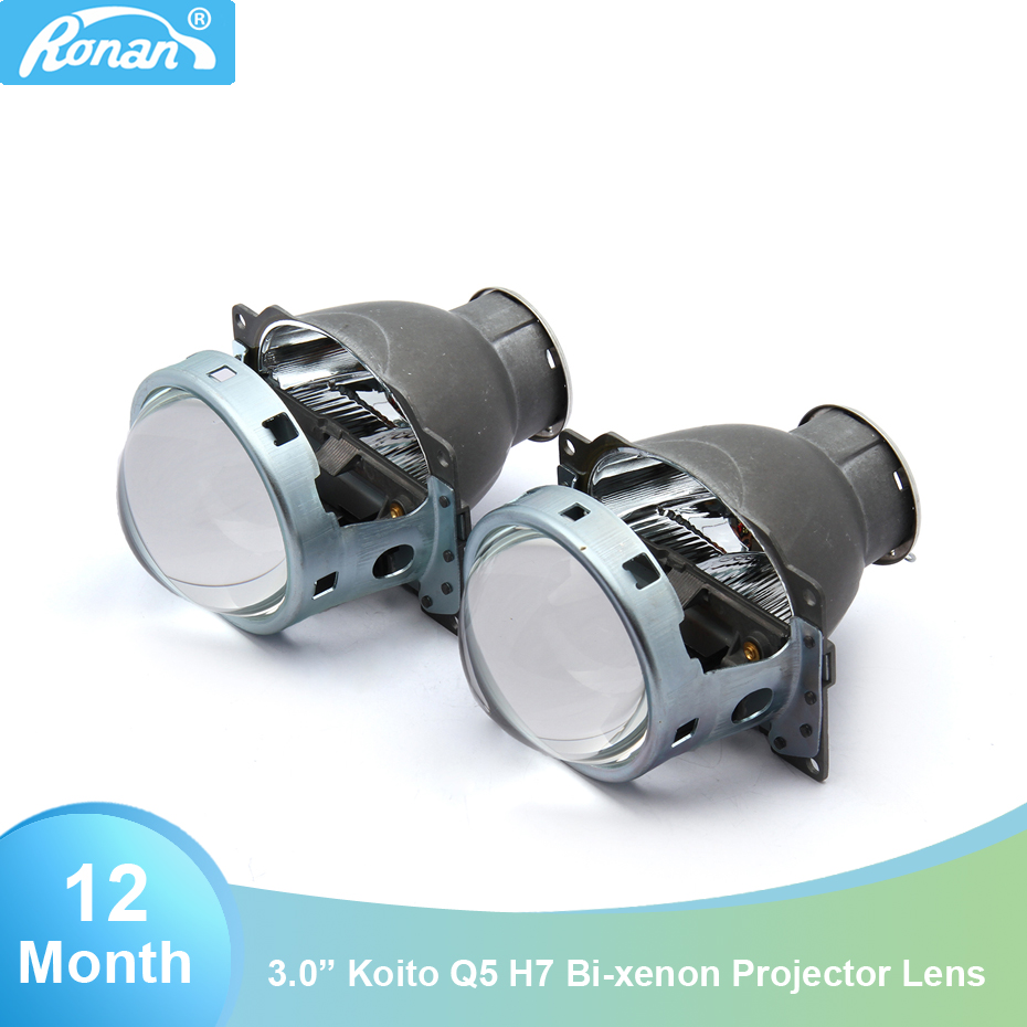 RONAN 3 0 koit q5 h7 Bi xenon HID Projector car styling headlight 2pcs Lens use