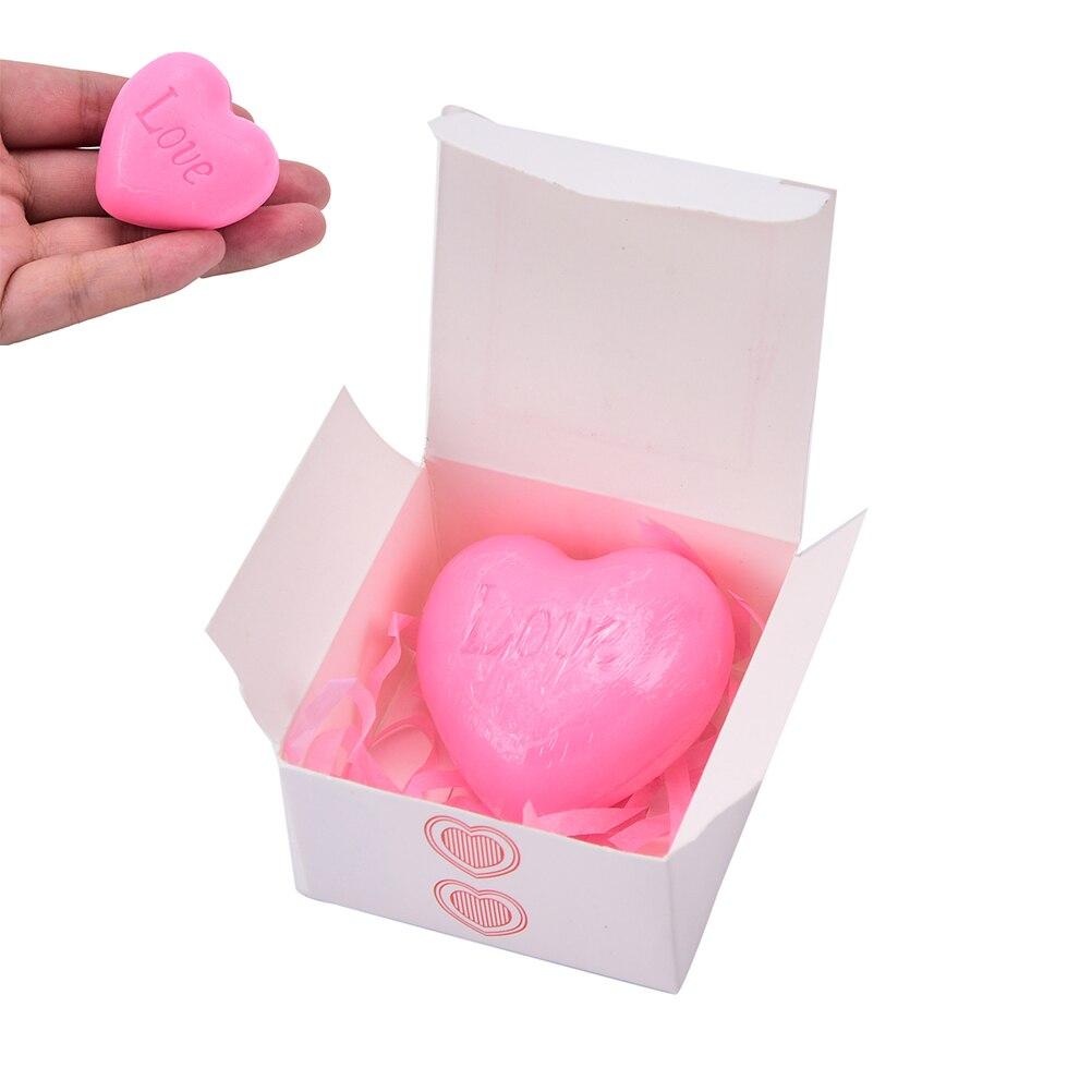 1pc Nourish Skin Whitening Handmade Love Heart-shaped Design Moisturizing Bath Soap Wedding Party Love Gift Valentine Gift