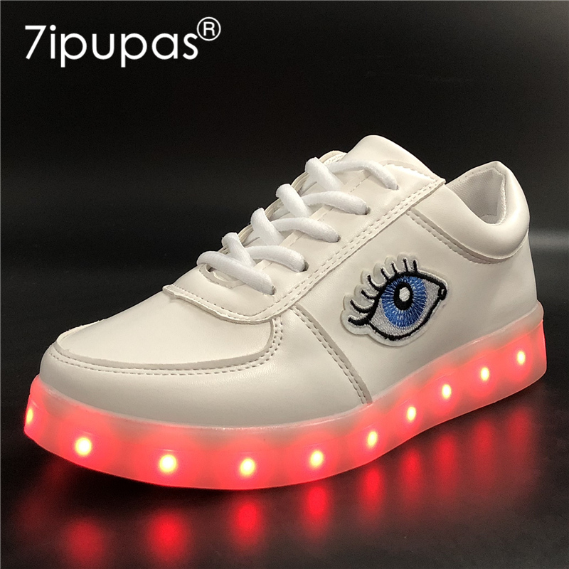 7ipupas 2018 New Fashion Boy&Girl Light Up Shoes Glowing Feminino Baskets Light Sole Chi ...