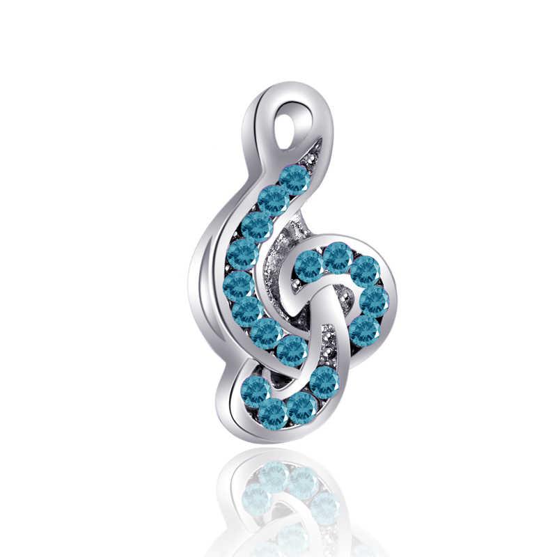 הגעה חדשה לוקסוס מוסיקה סמל קשת מפתח רגל עלים לב חרוזים Fit פנדורה קסמי צמידי לנשים ביצוע תכשיטים