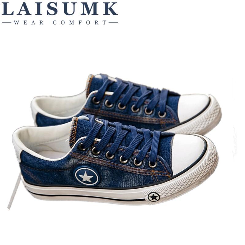 De Estrellas Las Cesta 44 Pisos Mujeres Tenis Moda Nueva Denim Blue 35 2019 Azul Laisumk Lona Tamaño Casuales Femenino Zapatillas Zapatos deep 5vqSXw4