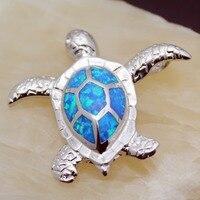 HERMOSA ювелирной моды Ocean черепахи форма Blue Fire австралийский опал стерлингового серебра 925 Шарм Подвеска OP32