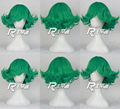 ONE PUNCH MAN Senritsu no Tatsumaki Cosplay Wigs Short Green Halloween Christmas Party Wigs + Free Wig Cap