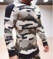 Cuerpo de ingenieros 2016 hombres de camuflaje ocasional sweatershirt sudaderas con capucha suéteres de alta calidad de fitness clothing hombres sudadera con capucha