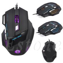 ФОТО computer accessories new 5500 dpi 7 buttons led usb optical wired gaming mouse for pro gamer hot dropshipping
