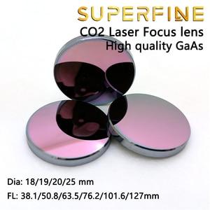 """Image 4 - Objectif de mise au point GaAs super fine Dia. Machine de découpe Laser CO2, 18 19 20 25mm FL 50.8 63.5 101.6mm 1.5 4"""""""