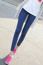 2016 новых Корейских женщин тонкий весной плотно талии узкие черные джинсы женщина