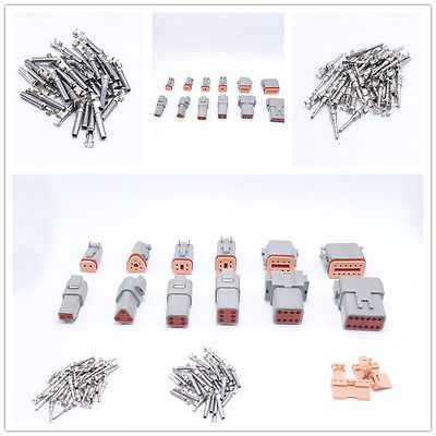 Deutsch DT Connectors Waterproof 2~12Pins Male Female Automative Connector Plugs hd34 series hd34 18 14pn hd34 18 14pe hd34 24 19pn deutsch car waterproof connector terminals plugs
