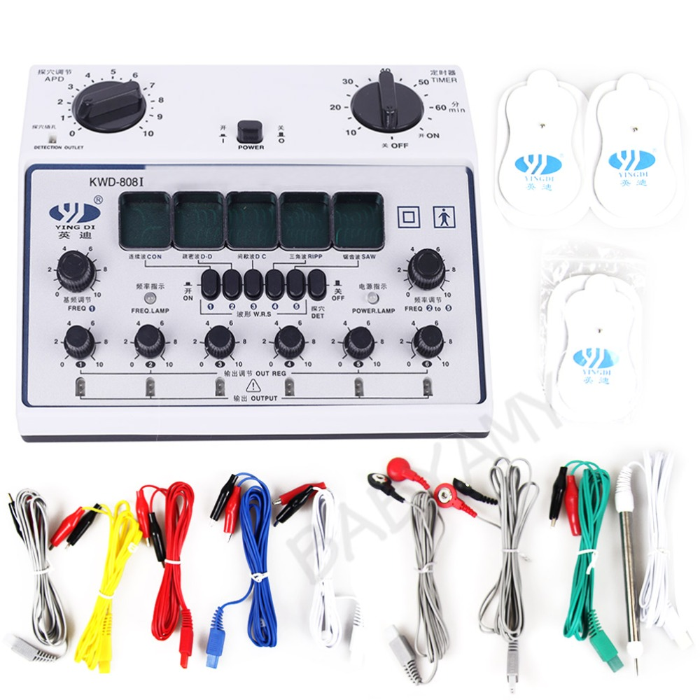 YingDi KWD808 I 6 Channels Output Patch Massager Machine KWD808 I KWD 808 I KWD 808 I D 1A 110V 240V EU US UK AU Plug-in Massage & Relaxation from Beauty & Health