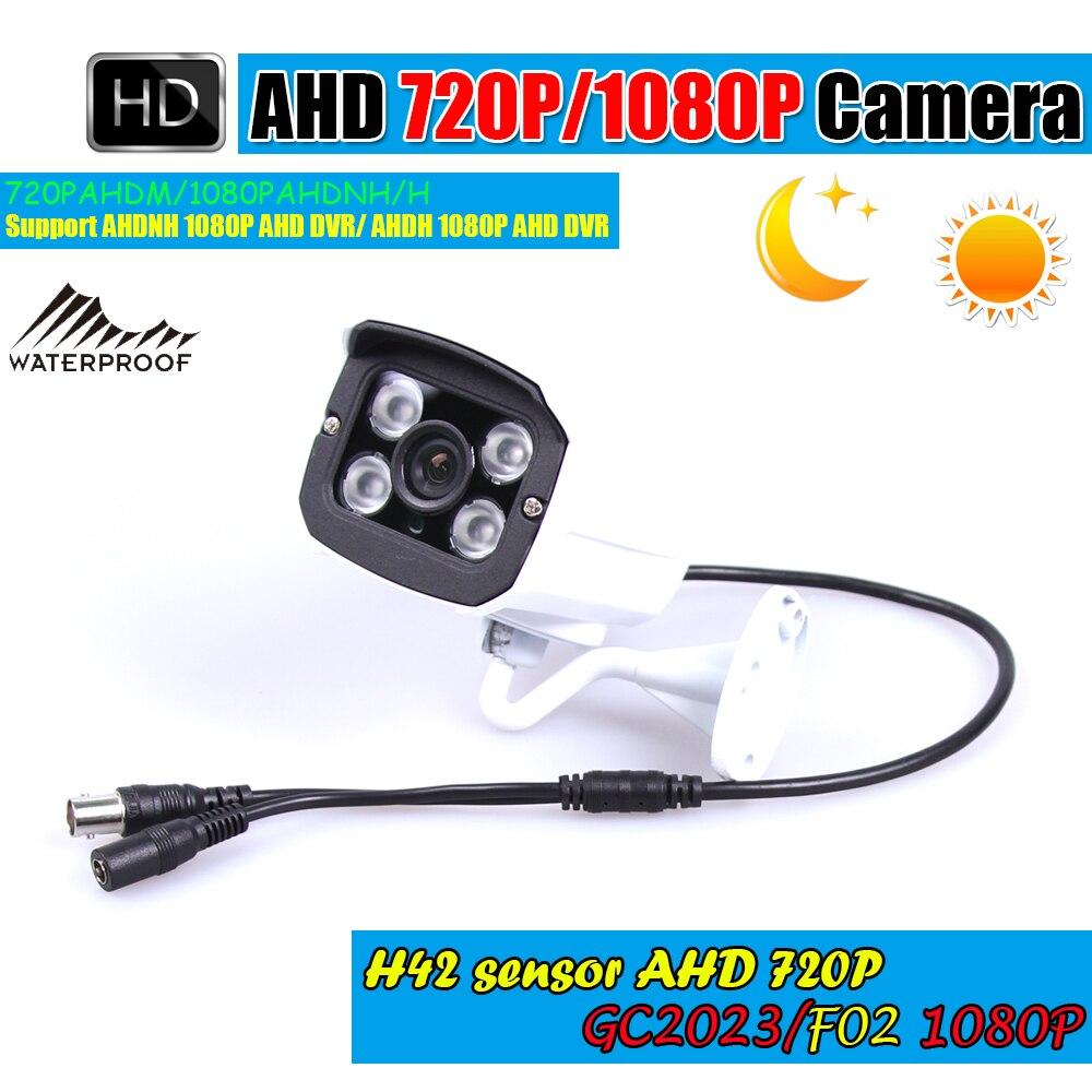 imágenes para $ Number MP/2MP CCTV AHD 720 P/1080 P AHD Cámara 3000TVL Bala Impermeable Al Aire Libre Mini Pequeño de Metal Negro IR Cámara de Vigilancia de Seguridad