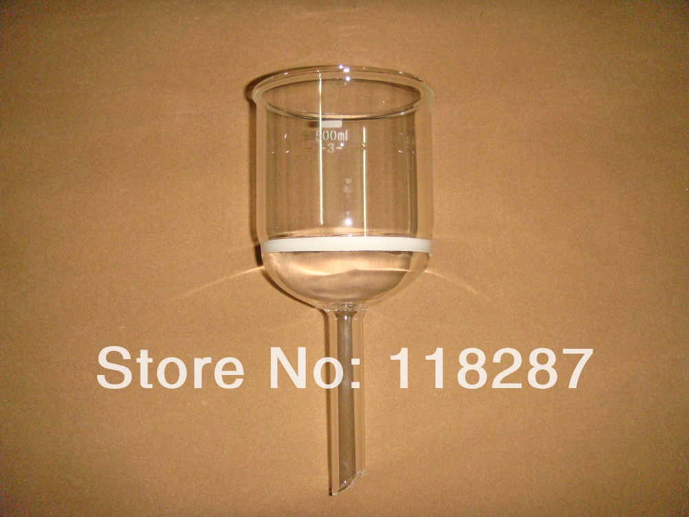 500ml Lab Buchner funnel with drop tube 3 Coarse filter Groud Joint Laboratory Glassware lab funnel