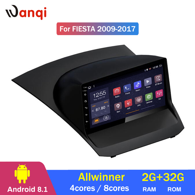 2G RAM 32G ROM 9 pouces Android 8.1 voiture dvd gps navigation pour système multimédia Ford Fiesta 2009-2017