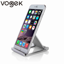 купить VOGEK Aluminum Mobile Phone Stand Tablet Holder Folding Adjustable Holder Bracket for iPhone 8 For Samsung for Galaxy for iPad по цене 640.82 рублей