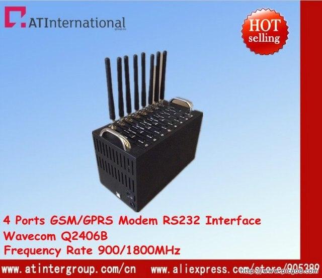 8 Ports GSM/GPRS Modem pool With Q2406B Module 900/1800MHz USB