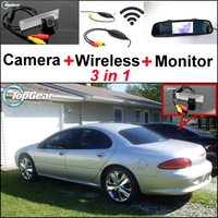 3 in1 Special Camera + Wireless Receiver + Mirror Monitor EASY DIY Parking System For Chrysler Concorde 1998~2004
