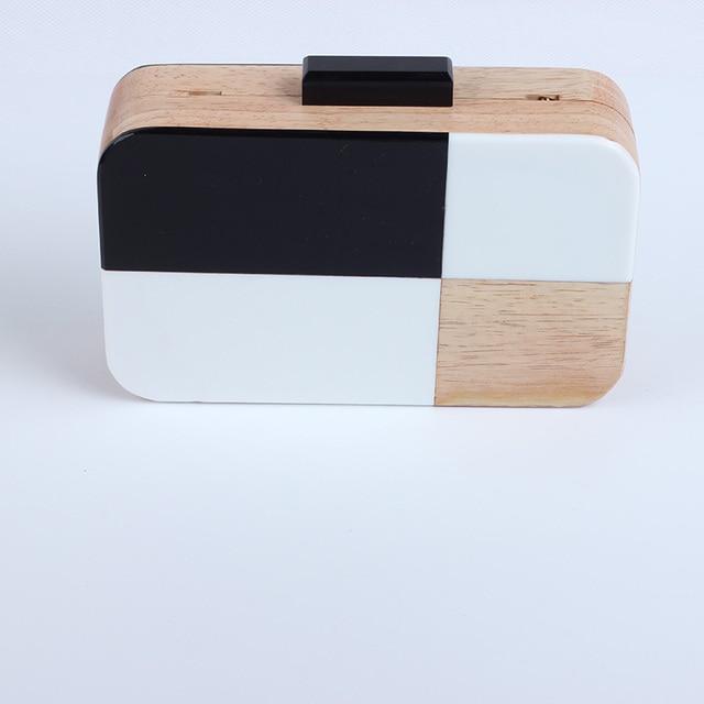 Acrylic Wood Travel Shoulder & Crossbody Handbag 2