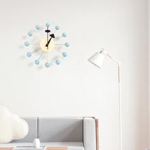 111New Decor wall clock watch quiet Wall Clocks Quartz Needle popular fashion wooden ball clock decor living room and kid room
