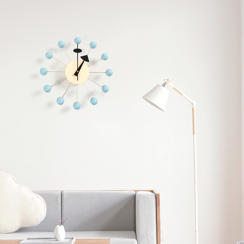 111new 장식 벽시계 시계 조용한 벽시계 석영 바늘 인기있는 패션 나무 공 시계 장식 거실과 아이 방-에서벽결이 시계부터 홈 & 가든 의  그룹 1