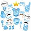 HOT 25 stks/set Meisje Photo Booth Props Baby Shower Roze Doop Verjaardag Decoratie DIY Party PhotoBooth Levert-6 1