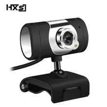 HXSJ  480P Webcam  1 LED PC Camera with Absorption Microphone MIC for Skype for Android TV Rotatable USB Web Cam Computer Camera
