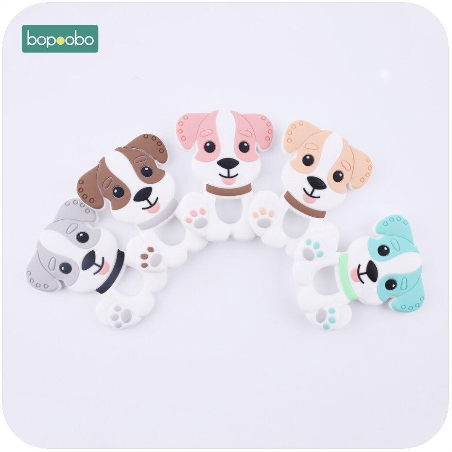 Bopoobo Silikon Zahnen Hund Anhänger Bpa Frei 5 Stück Food Grade Materialien Charms Baby Diy Schmuck Pflege Halskette Anhänger