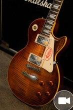 Venta Al Por Mayor tienda de Encargo 1959 R9 Tiger Llama Vicers LP Estándar de la guitarra eléctrica 59 de la guitarra eléctrica CALIENTE!