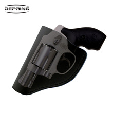 Concealed Carry Leather IWB Holster for Most J Frame .38 Special Revolvers Ruger LCR Smith and Wesson Body Guard Taurus