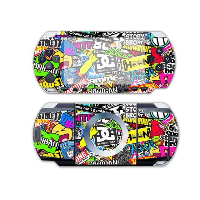 Bomb vinyl skin sticker protector for sony psp 1000 skins stickers for psp1000 game accessories for