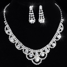 hot deal buy women bridal jewelry sets fashion jewelry earrings/necklace african jewelry set with crystal for women